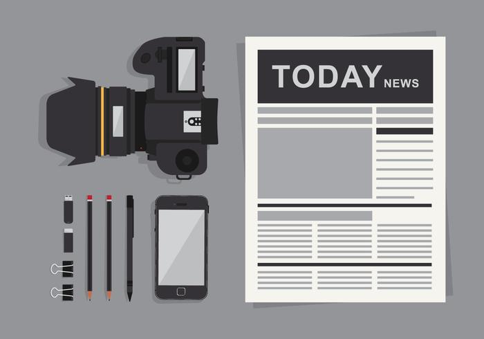 Gammal tidnings illustration