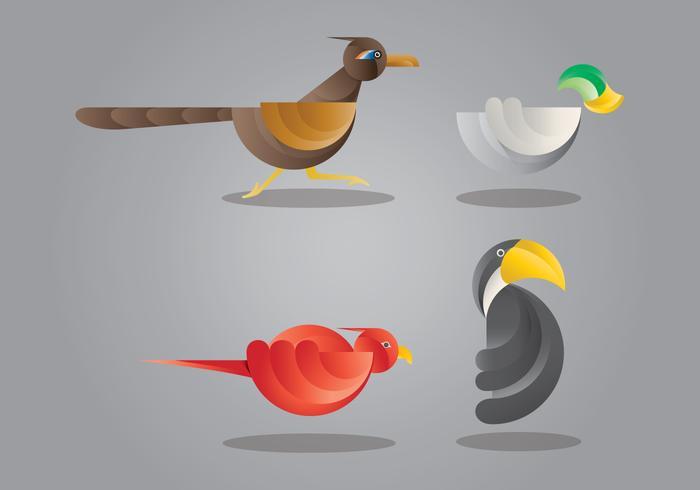 Ilustración del pájaro del Roadrunner vector