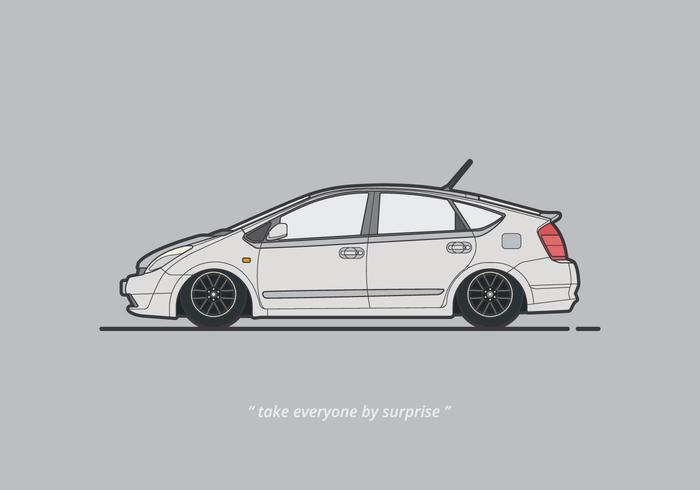 Illustration de voiture prius