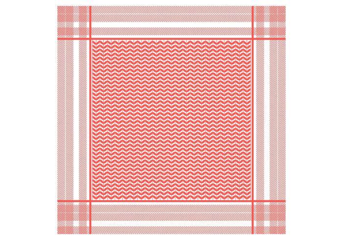 Keffiyeh Red Seamless Pattern