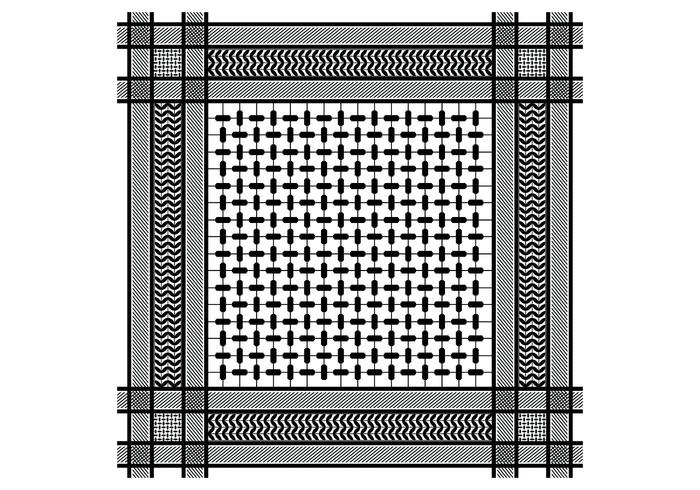 Keffiyeh Black Seamless Pattern