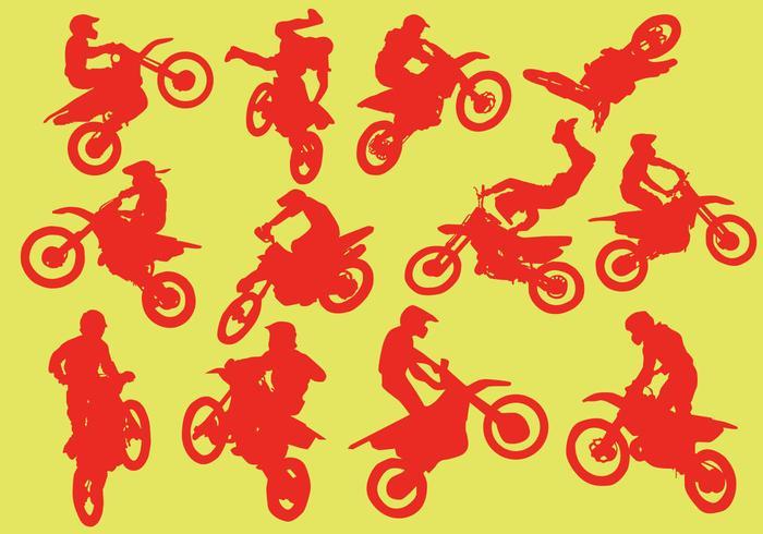 Silhuett av motorcross