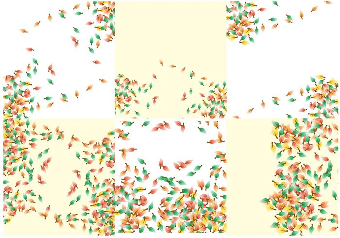 Shwooshing Leaves Fall Background Vector