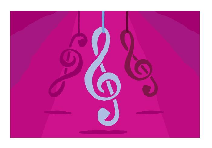 Lila Hängande Violin Key