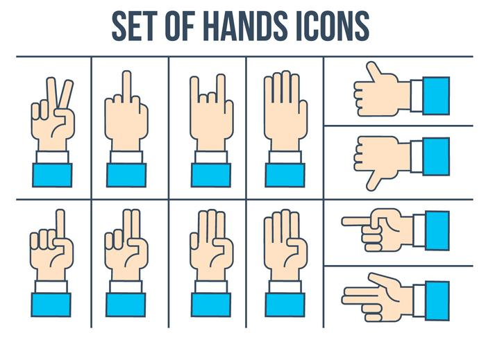 Free Hands Icons Vector Set