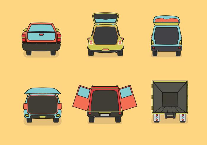 Auto boot vector illustratie kleur