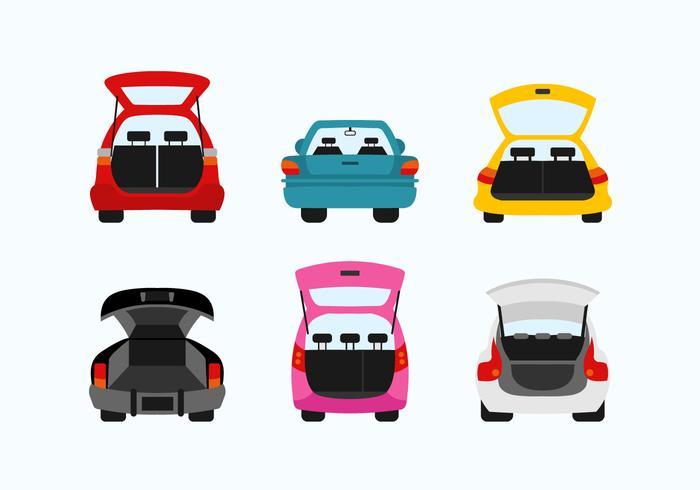 Carboot vector flat design illustration