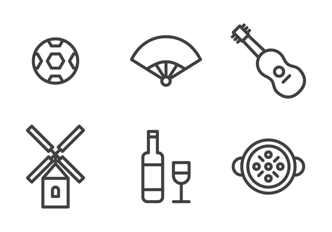 spanish icon set download free vector art stock