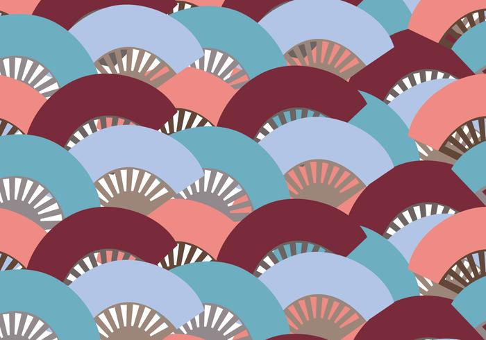 Colorful Spanish Fan Pattern