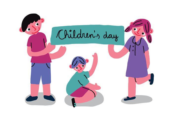 Children's Day Banner Vector