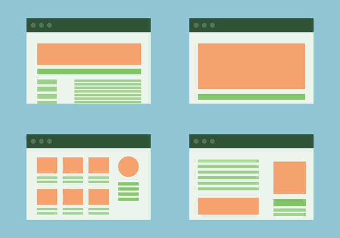 Websites Portal Layout Vectors