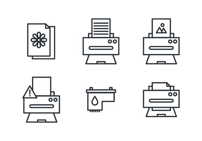 Stuff voor printers vector