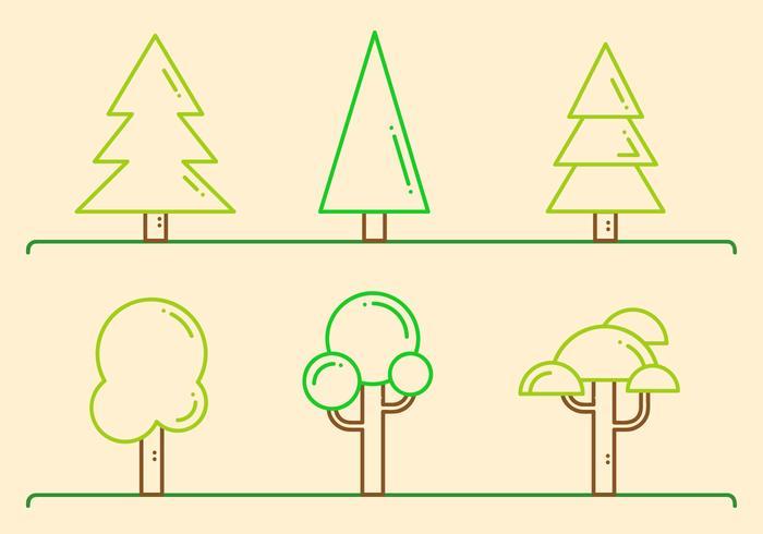 Free Trees Vector