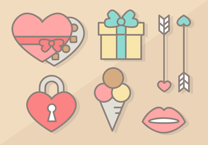 Free Valentine's Day Elements Vector