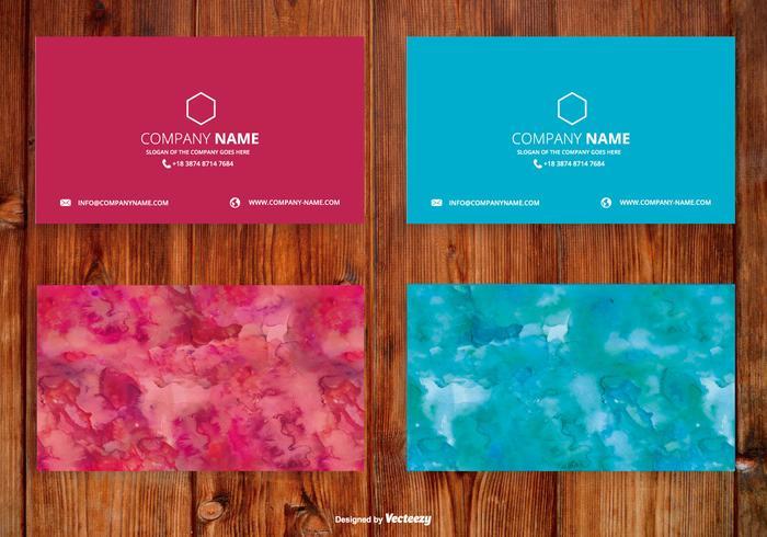 Ensemble de cartes personnalisées pour aquarelle lumineuse