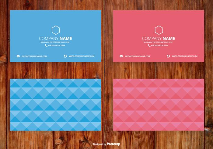 Abstract Polygon Style Name Card Set