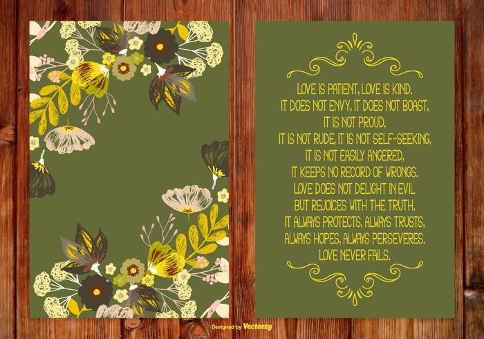 Love is Kind Poem Card