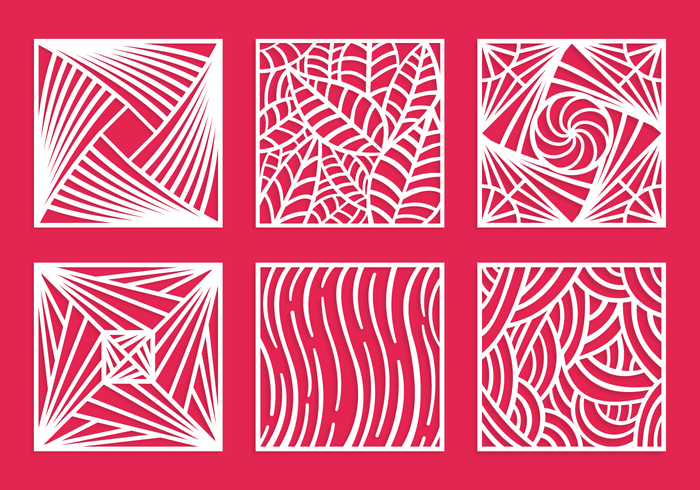 Square laser cut pattern vector pack