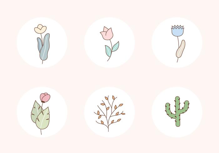 Plants Vector Icons