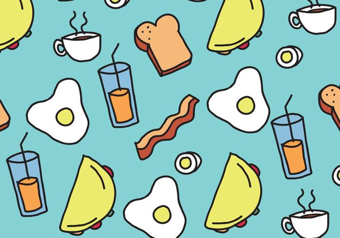 Desayuno Patrón de Alimentos vector