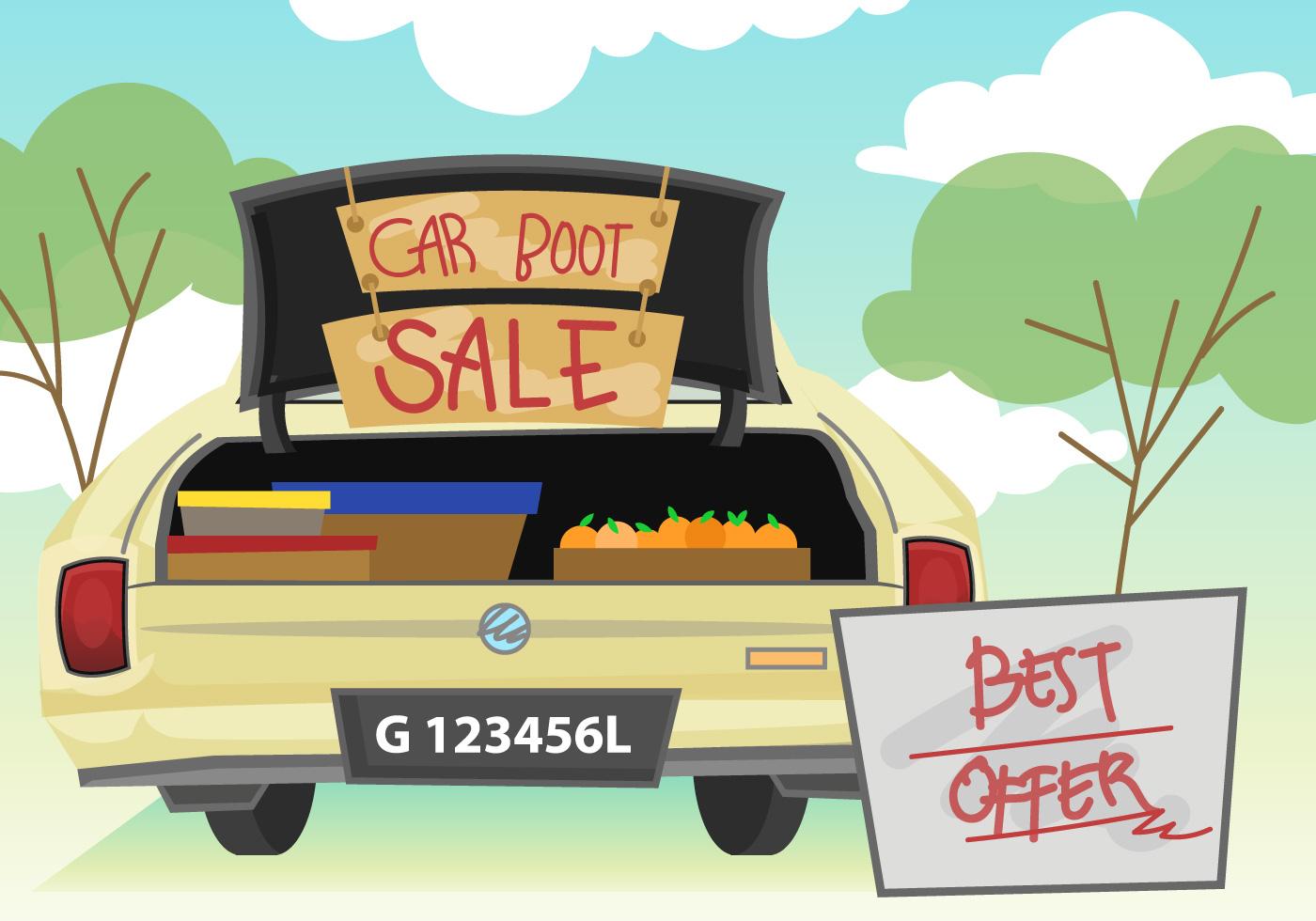 Car Keys Clip Art Car Boot Sale Illustra...