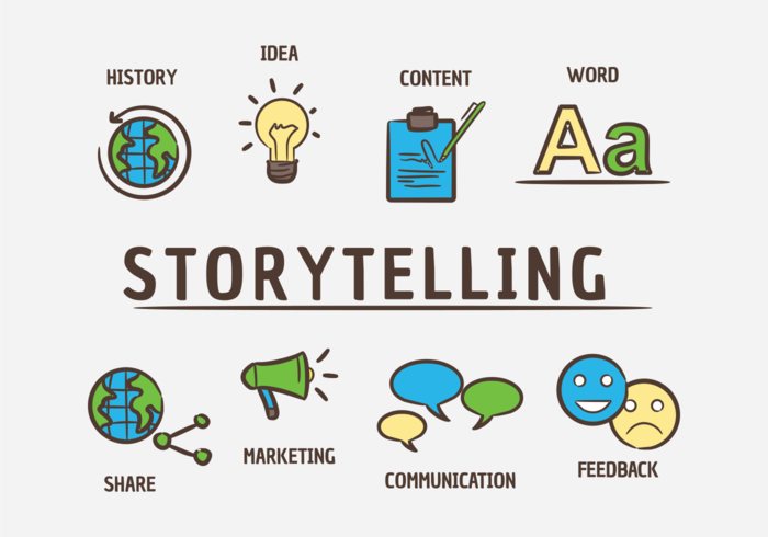 Storytelling Vector Icons