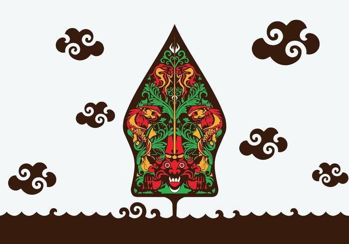 Ilustración de Gunungan Wayang