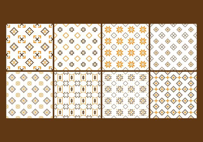 Songket and Batik Seamless Pattern