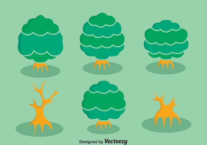 Mangrove Tree Collection Vector