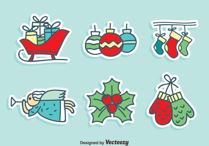 Mano dibujado vector de decoración de Navidad