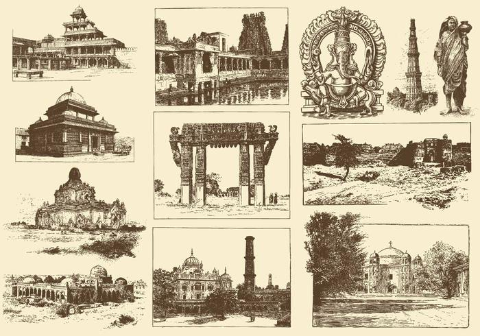 Sepia India Illustrations