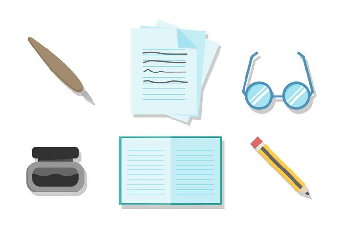 Free Writing Tools Vector