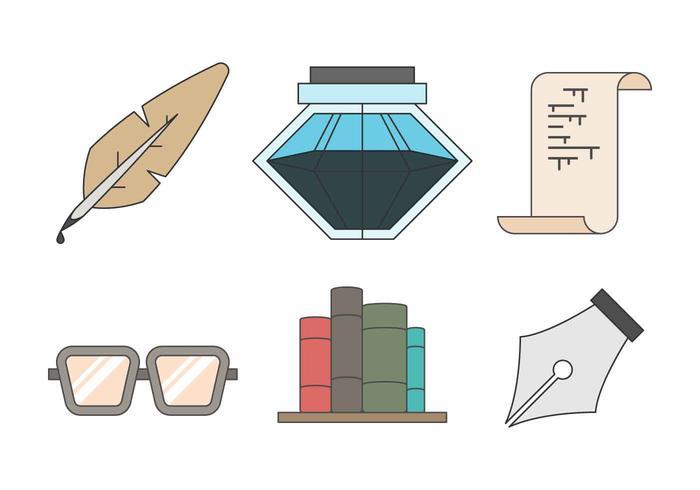 Vector de ferramentas de escrita grátis