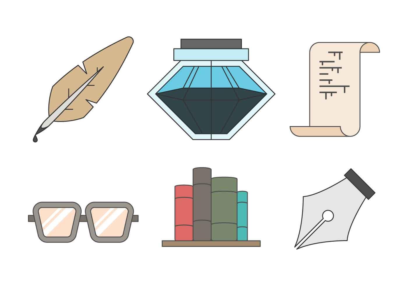 Free Writing Tools Vector Download Free Vector Art