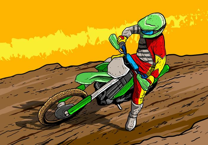 Smutscyklar motorcykel ryttare vektor