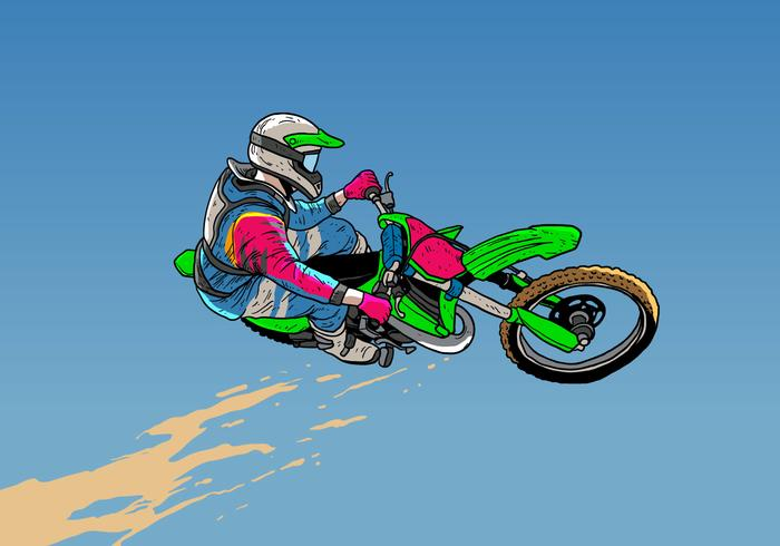 Dirt Bikes Jumping Action