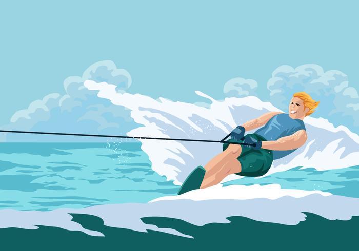 Fun Summer Vacation Riding Water Skiing