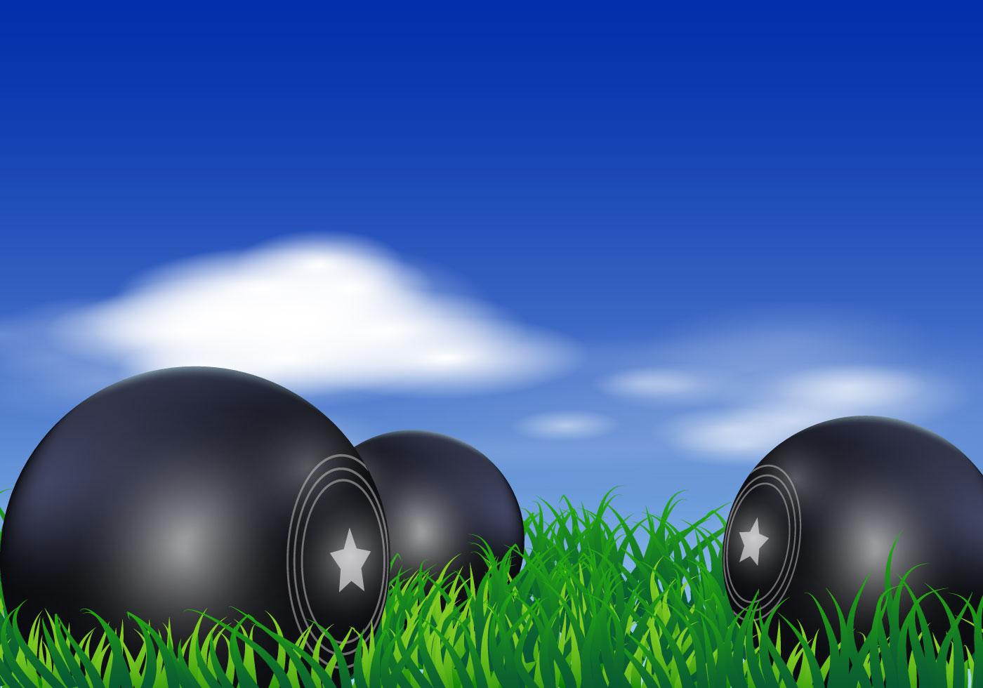 lawn bowls vector