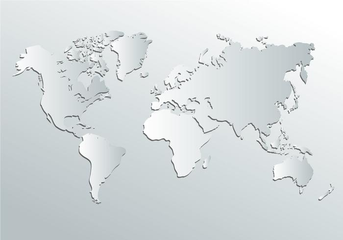 White World Map Vector - Download Free Vector Art, Stock Graphics ...