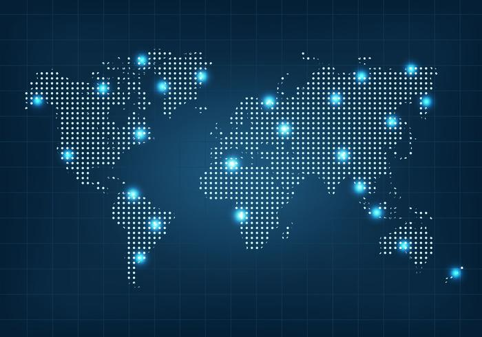 dotted world map vector download free vector art stock graphics
