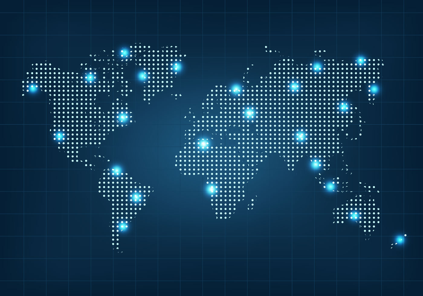 Dotted World Map Free Vector Art - (16,243 Free Downloads)