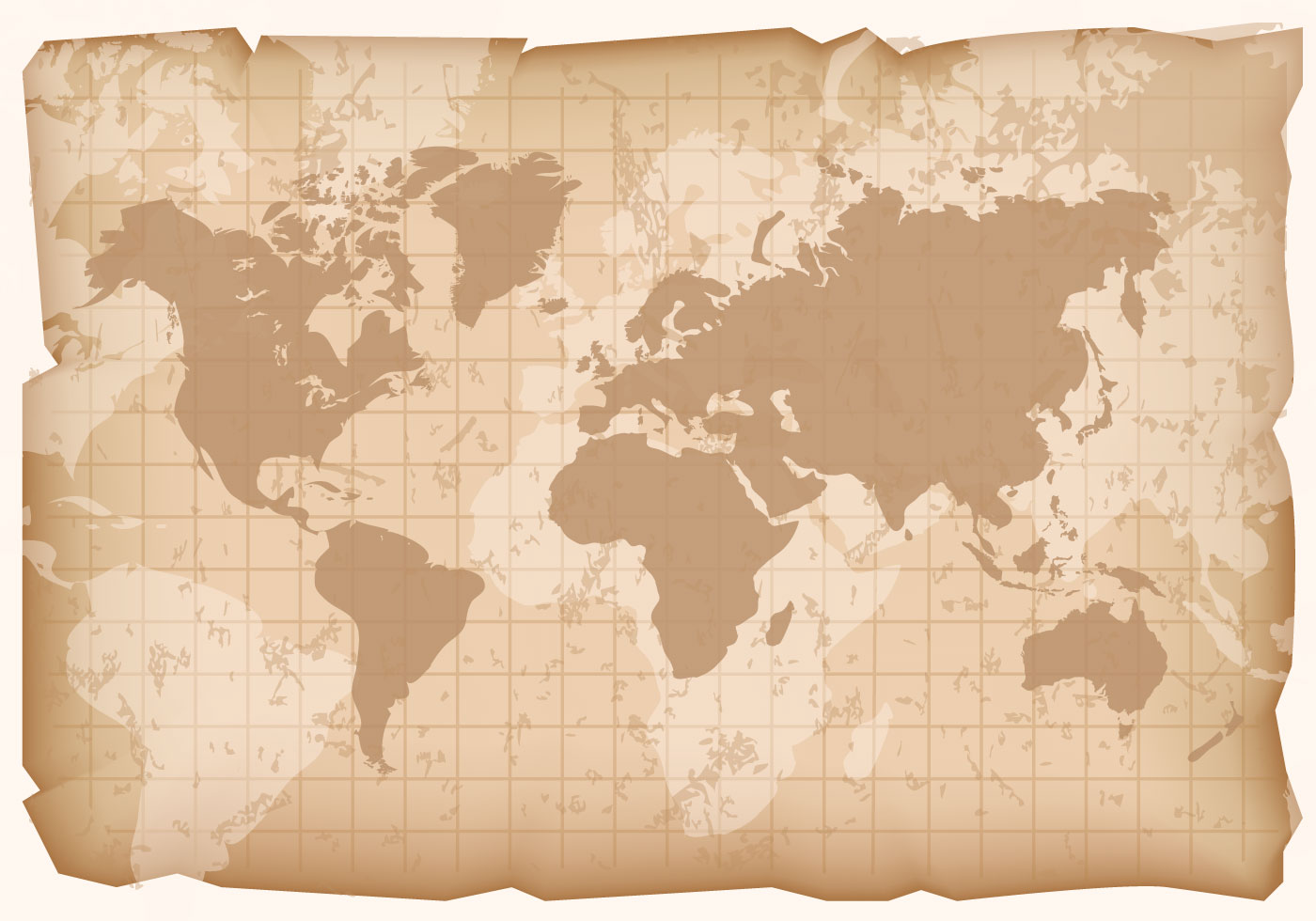 Vintage World Map Vector Download Free Vector Art Stock