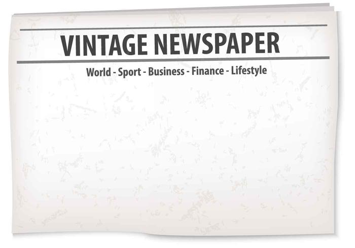 Vintage Old Newspaper Background vector