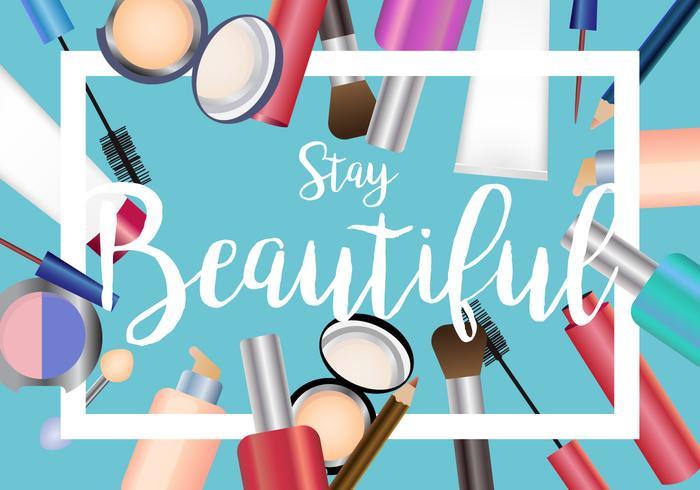 Conjunto De Belleza De Maquillaje Vector