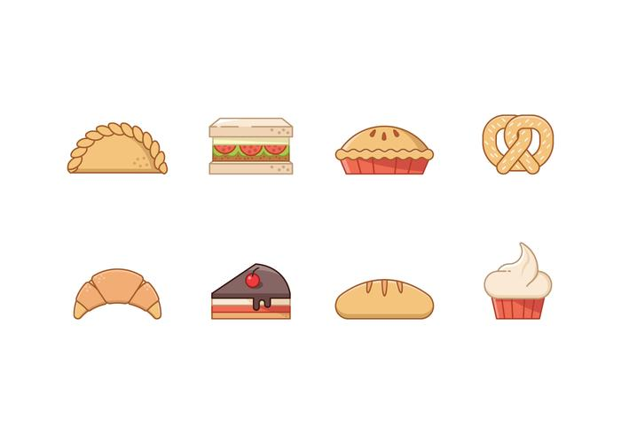 Free Bakery Icons vector
