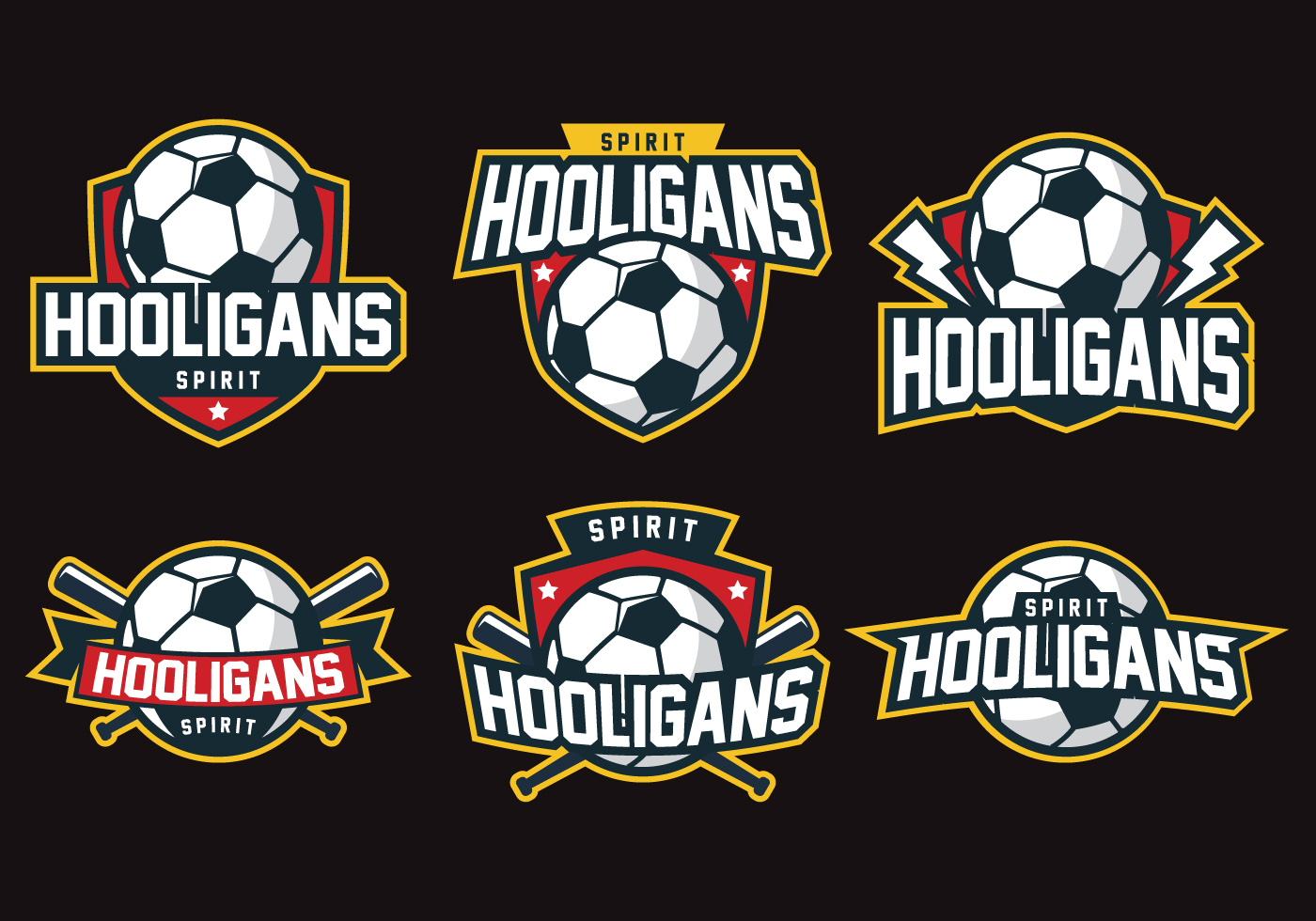 hooligans badge download free vector art stock graphics