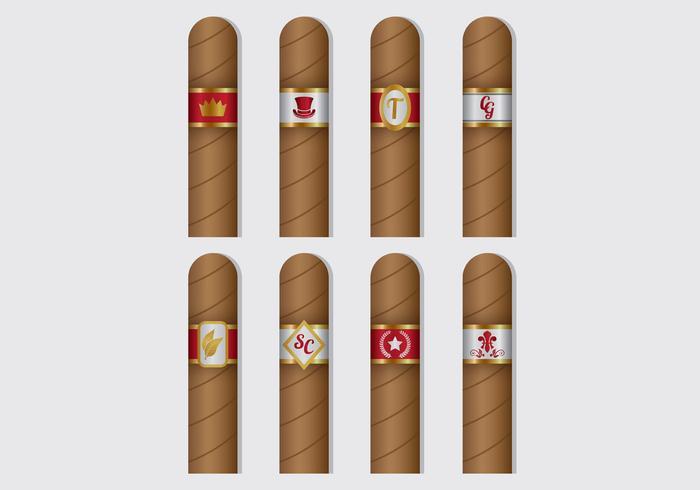 Cigar Label Vectors