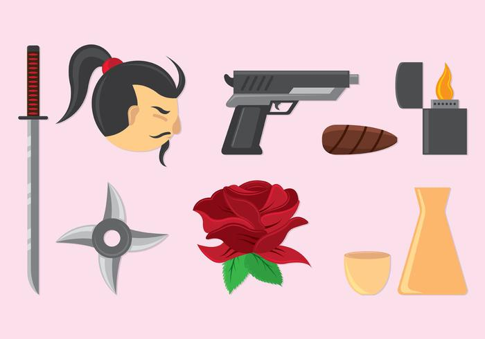 Set Of Yakuza Icons
