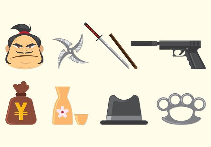 Ensemble d'icônes de Yakuza