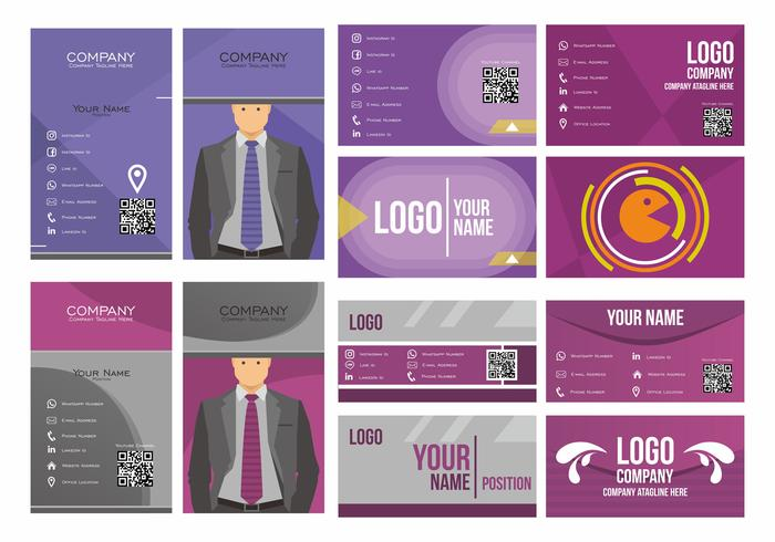 Purple Namecard Vector Design